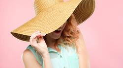 summer-vacation-trip-stylish-beach-sunhat-woman-picture-id1034443264